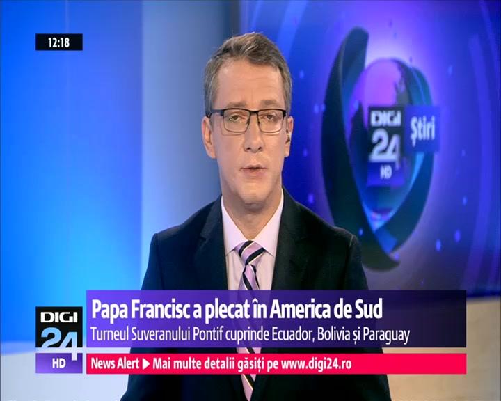 Papa Francisc a plecat în America de Sud