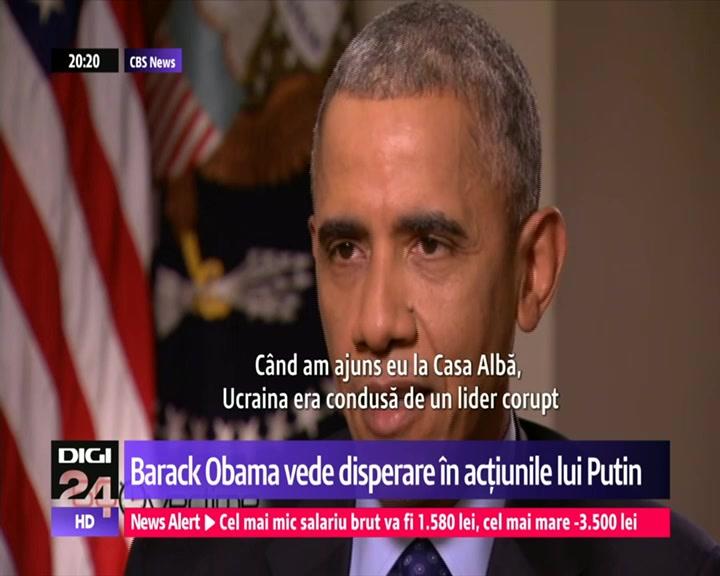 Barack Obama: Ce face Vladimir Putin nu e dovadă de putere. Liderul rus: Doar Rusia acţionează legal în Sir