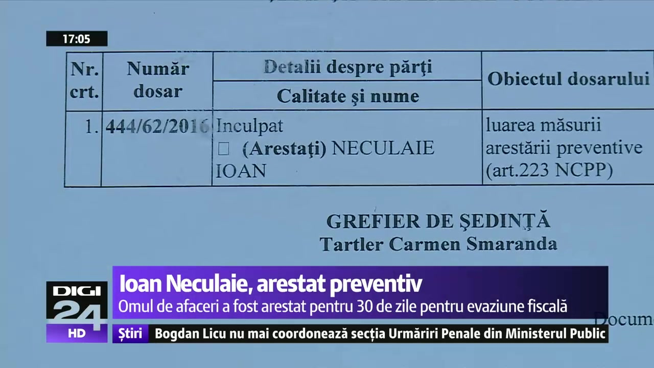 """INTERCEPTĂRI. Ioan Neculaie, arestat preventiv, către un martor: """"Să nu fi spus vreo prostie pe acolo..."""""""