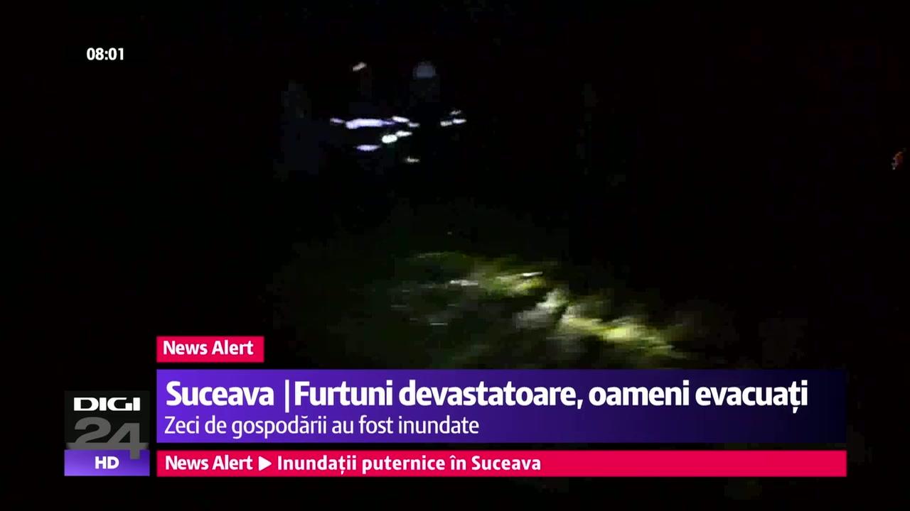 Inundații în Suceava | Furtuni devastatoare, zeci de gospodării evacuate